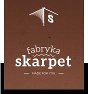 Logo sklepu z kolorowymi skarpetkami Fabrykaskarpet.pl